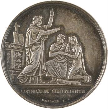 IIIe République, médaille de mariage, par Gayrard, 1873