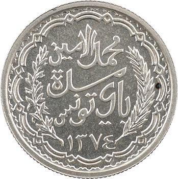 Tunisie (Protectorat français), Mohamed Lamine, 10 francs, 1954 Paris