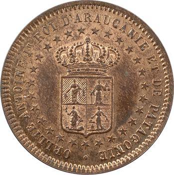 Araucanie-Patagonie, Orélie-Antoine Ier, dos centavos 1er type, 1874