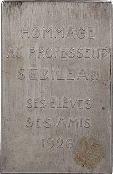 Médecine, professeur Pierre Sebileau, oto-rhino-laryngologiste, par Hérain, 1926 Paris