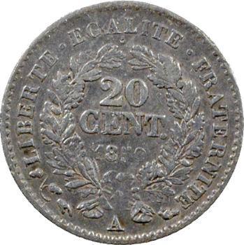 IIe République, 20 centimes Cérès, 1850 Paris