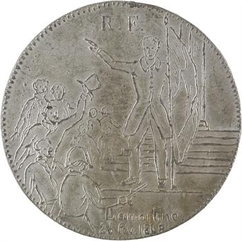 IIe République, Lamartine rejette le drapeau rouge, 1848 Paris