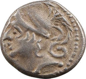 Allobroges, denier à l'hippocampe à gauche, classe II, c. IIe-Ier s. av. J.-C.