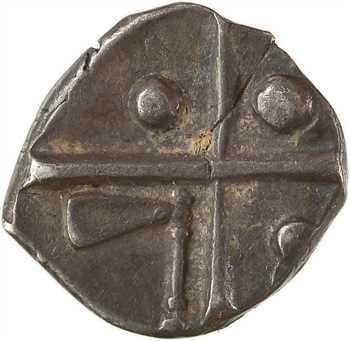 Longostalètes, drachme au style languedocien, série I type cubiste romanisé, c.IIe s. av. J.-C.