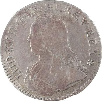 Louis XV, écu aux branches d'olivier, 1739 Metz