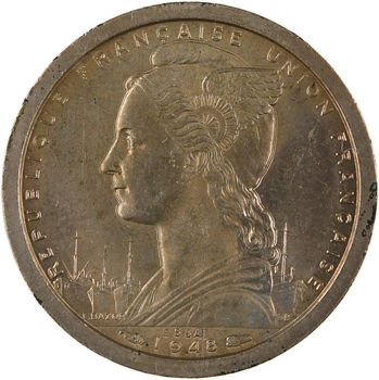 A.O.F. Union française, essai de 1 franc, 1948 Paris