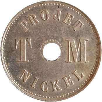 IIIe République, essai de 1 centime par Michelin, s.d. (1889) Paris