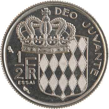 Monaco, Rainier III, essai d'1/2 franc, 1965 Paris