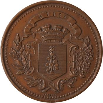 IIIe République, concours de tir cantonal militaire d'Avize (Marne), 1885 Paris