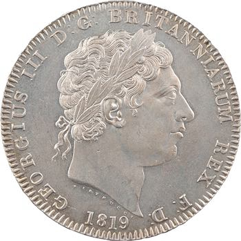 Royaume-Uni, Georges III, crown ou écu, 1819 (LIX) Londres