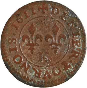 Louis XIII, denier tournois 1er type, 1611 Bordeaux
