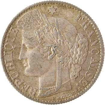 IIIe République, 50 centimes Cérès, 1882 Paris