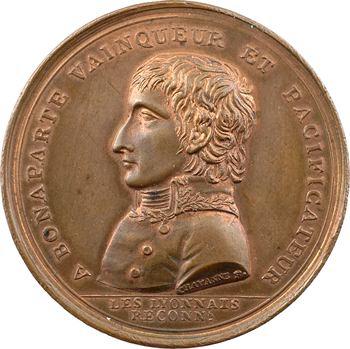 Consulat, pose de la première pierre de la grande place, 1800 Lyon