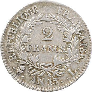 Premier Empire, 2 francs calendrier révolutionnaire, An 13 Bayonne