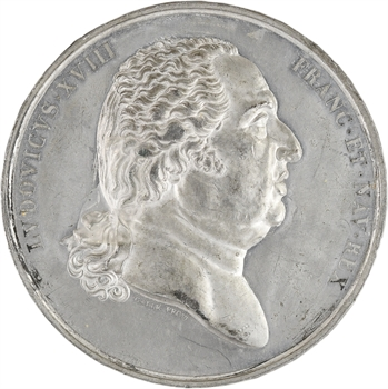 Louis XVIII, cliché uniface d'avers par Galle, s.d. (c.1817) Paris