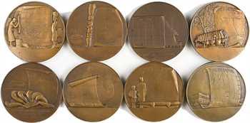 Exposition coloniale de Paris 1931, série des 8 médailles Afrique de Monier