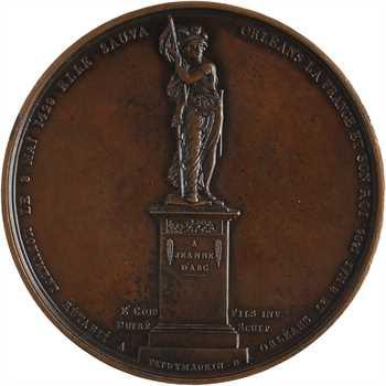 Louis XVIII, Orléans, monument de Jeanne d'Arc guerrière rétabli en 1803, par Gayrard, s.d. Paris