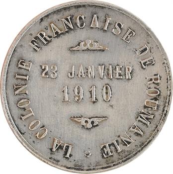 Roumanie, la colonie française au Consul Oscar Briol, 1910