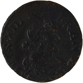 Louis XIII, double tournois 19e type, 1640 Tours