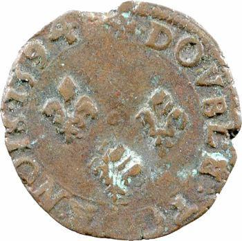 Charles X, double tournois, 1594 Dijon