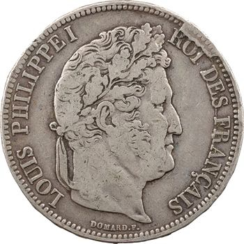 Louis-Philippe Ier, 5 francs IIe type Domard, 1838 Marseille