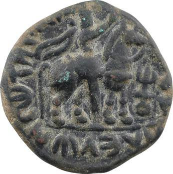 Inde, Empire Koushan, Vima Taktu, tétradrachme en bronze, c.80-105