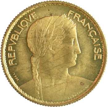IIIe République, essai de 10 francs par Delannoy, 1929 Paris