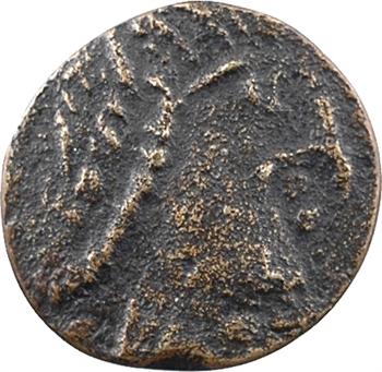 Aquitaine, Banassac (Javols, Lozère), Gauletano monétaire, trémissis FAUX d'ÉPOQUE, c.650