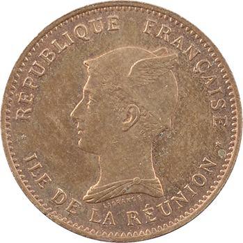 Réunion (île de la), essai de 50 centimes Maillechort (?), 1896 Paris