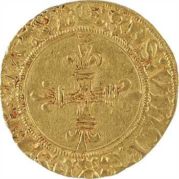 Charles VIII, demi-écu d'or au soleil, 1re (ou 2e émission), Bordeaux