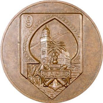Maroc, médaille du 9e régiment d'artillerie de Marine (RACM)