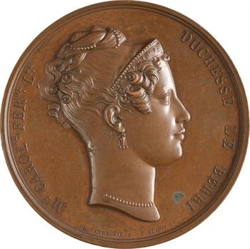 Duchesse de Berry et Mademoiselle d'Artois par Dubois, 1827 Paris
