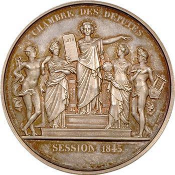 Louis-Philippe Ier, médaille argent, Chambre des députés, 1845