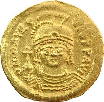 Maurice Tibère, solidus, Constantinople, 585-586