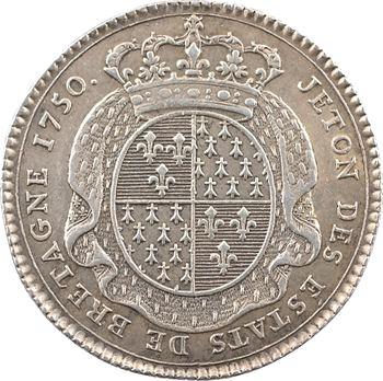 Bretagne (États de), jeton en argent, 1750 Paris