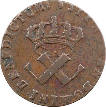 Amérique, Louis XV, 9 deniers des colonies américaines, 1722 La Rochelle