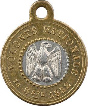 Second Empire, proclamation de l'Empereur, bimétallique, 1852 Paris