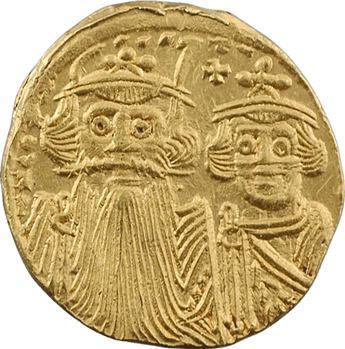 Constant II et Constantin IV, Héraclius et Tibère, solidus, Constantinople, 9e officine ?, 659-668