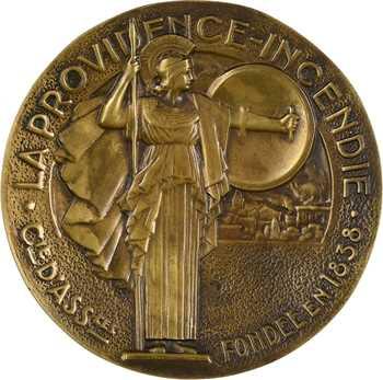Bénard (R.) : Centenaire de la Providence Incendie, fonte vide-poche, 1838-1938