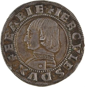 Italie, Ferrare (duché de), Hercule Ier d'Este, gros ou grossone, s.d. Ferrare