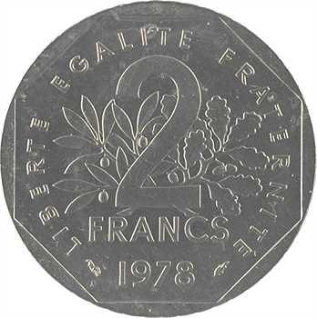 Ve République, essai de 2 francs Semeuse, 1978 Pessac