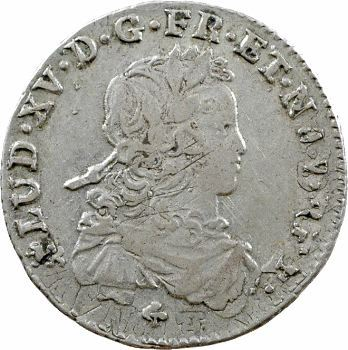 Louis XV, sixième d'écu de France, 1721 Nantes