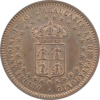 Araucanie-Patagonie, Orélie-Antoine Ier, dos centavos, 1874