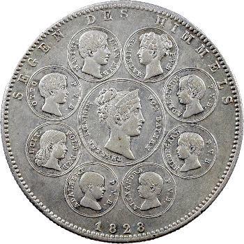 Allemagne, Bavière (royaume de), Louis Ier, thaler historique, 1828 Munich