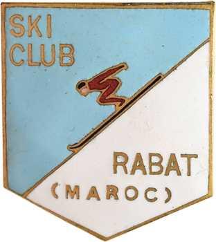 Maroc, badge du ski club de Rabat, s.d