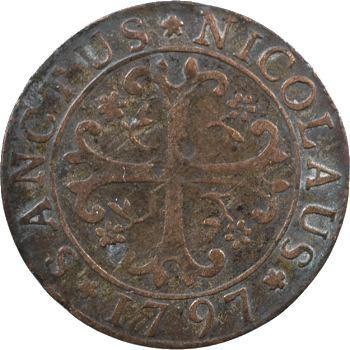 Suisse, Fribourg (canton de), 1/2 batzen, 1797