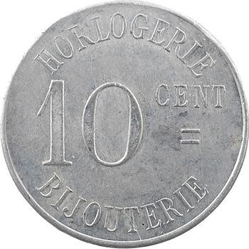 Algérie, Sidi-Bel-Abbès, 10 centimes horlogerie Plantier Boissonnet, 1914-1916 (c.1920)