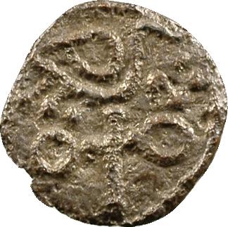 Anglo-saxons, denier ou sceatta, série à l'oiseau sur une croix
