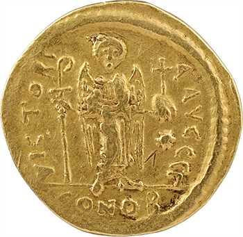 Justinien Ier, solidus, Constantinople, 3e officine, 527-565