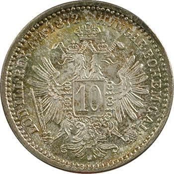 Autriche, François Joseph Ier, 10 kreuzer 1872